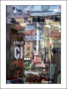 R003 reflet lisbonne place du rossio