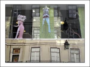 R008 reflet lisbonne baixa rua augusta
