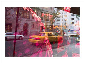 reflet new york 5 eme avenue taxi Olivier Perrin